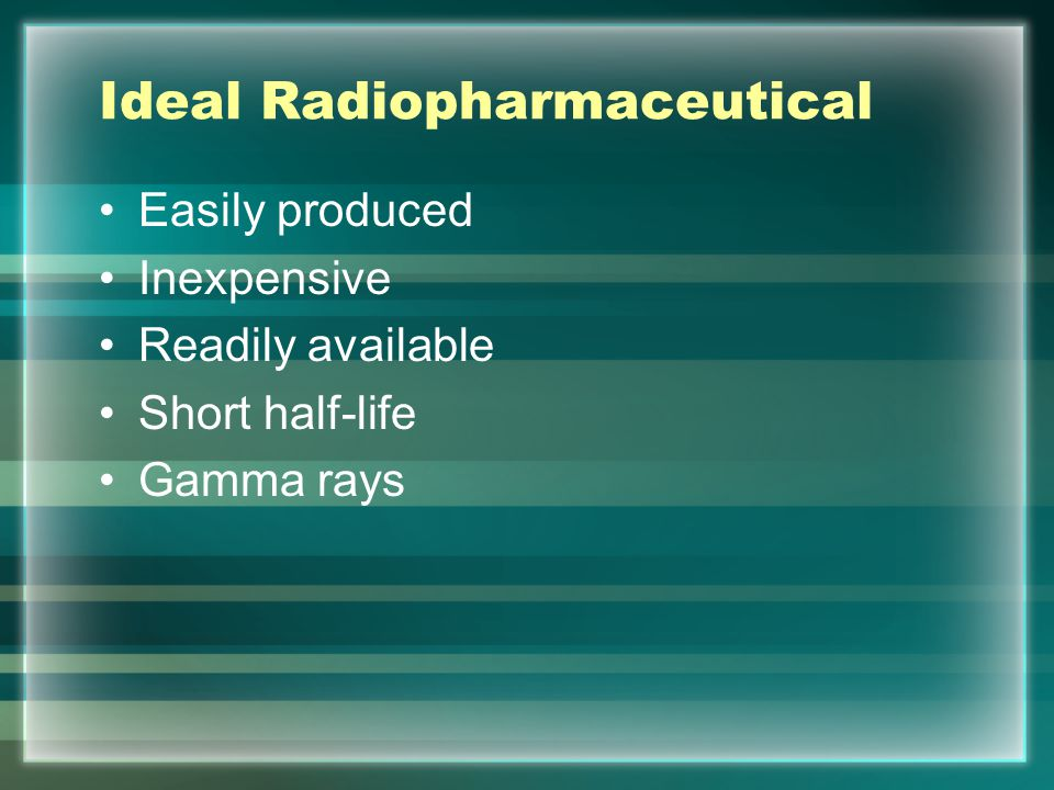 Ideal Radiopharmaceutical