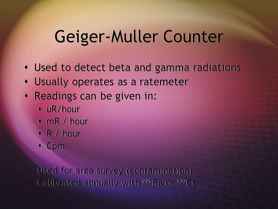 Geiger-Muller Counter