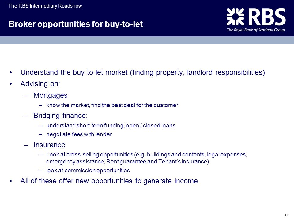 Broker opportunities for buy-to-let