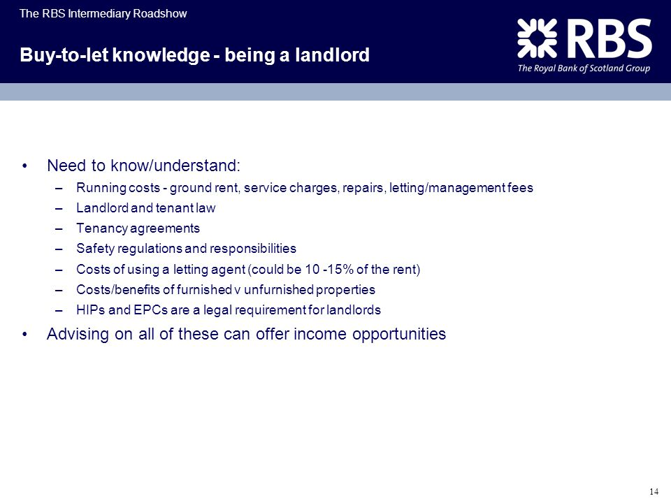 Buy-to-let knowledge - being a landlord