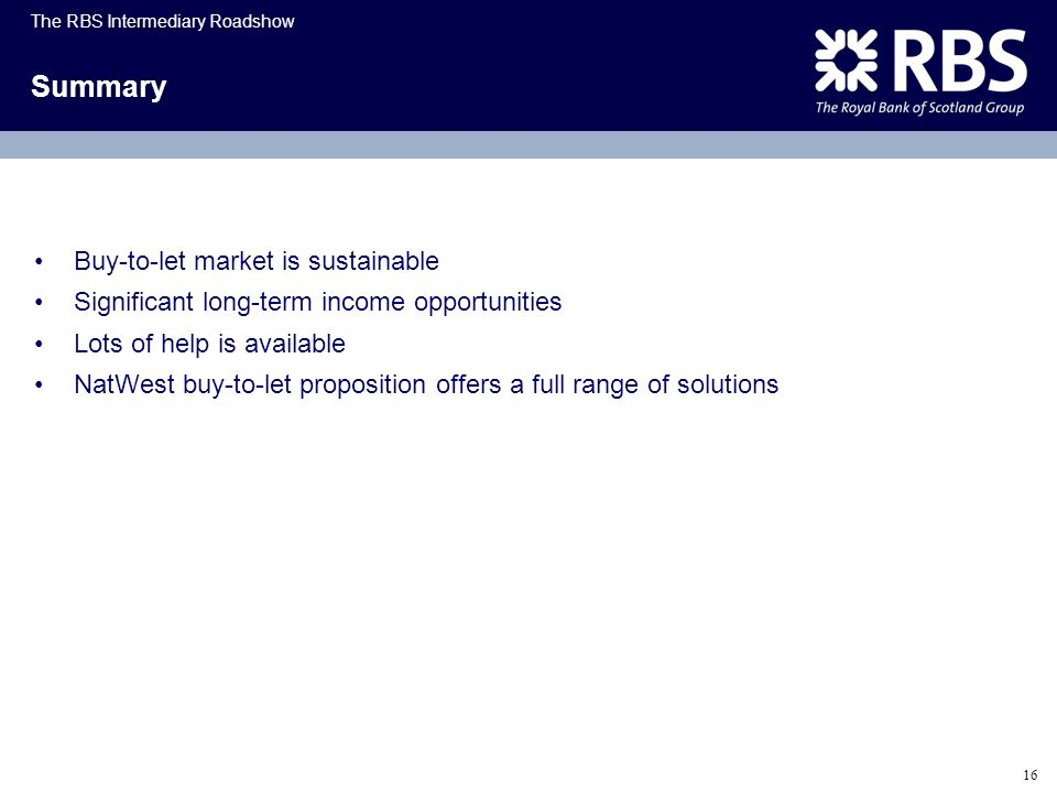 Summary Buy-to-let market is sustainable