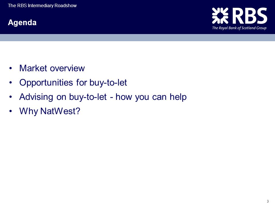 Opportunities for buy-to-let Advising on buy-to-let - how you can help