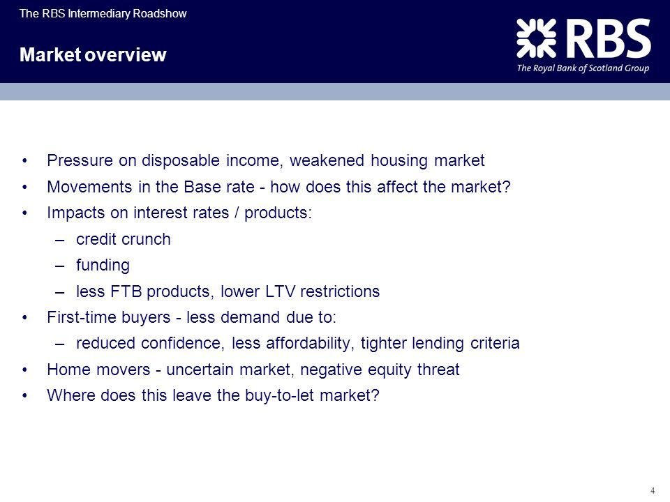 Market overview Pressure on disposable income, weakened housing market