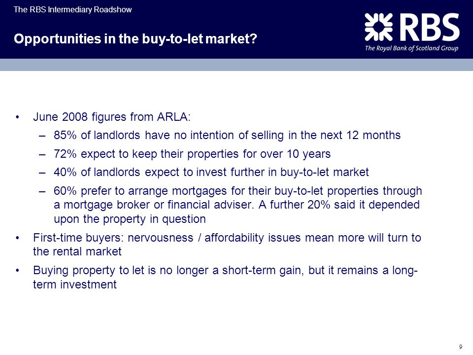 Opportunities in the buy-to-let market