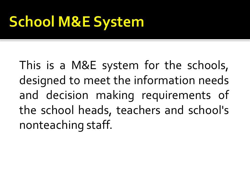 School M&E System