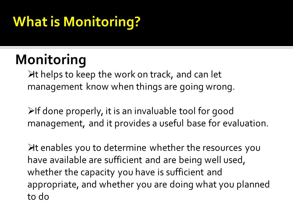 What is Monitoring Monitoring