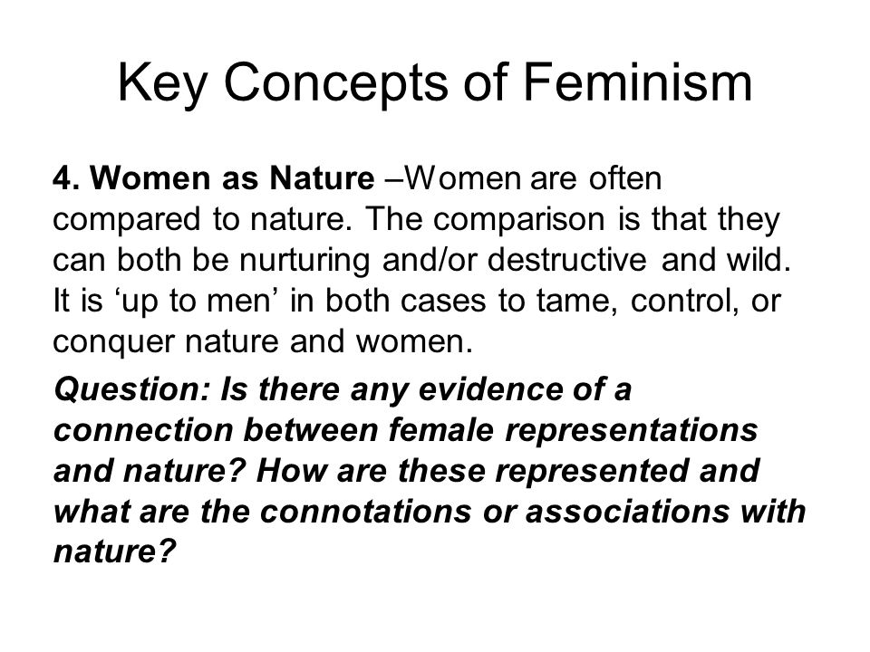 Key Concepts of Feminism
