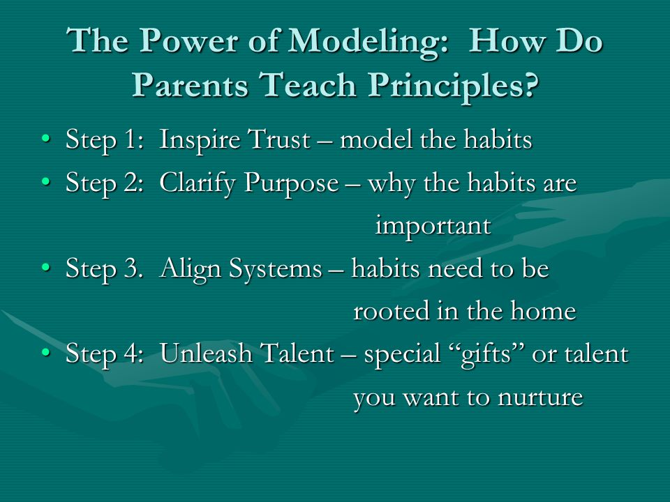 The Power of Modeling: How Do Parents Teach Principles