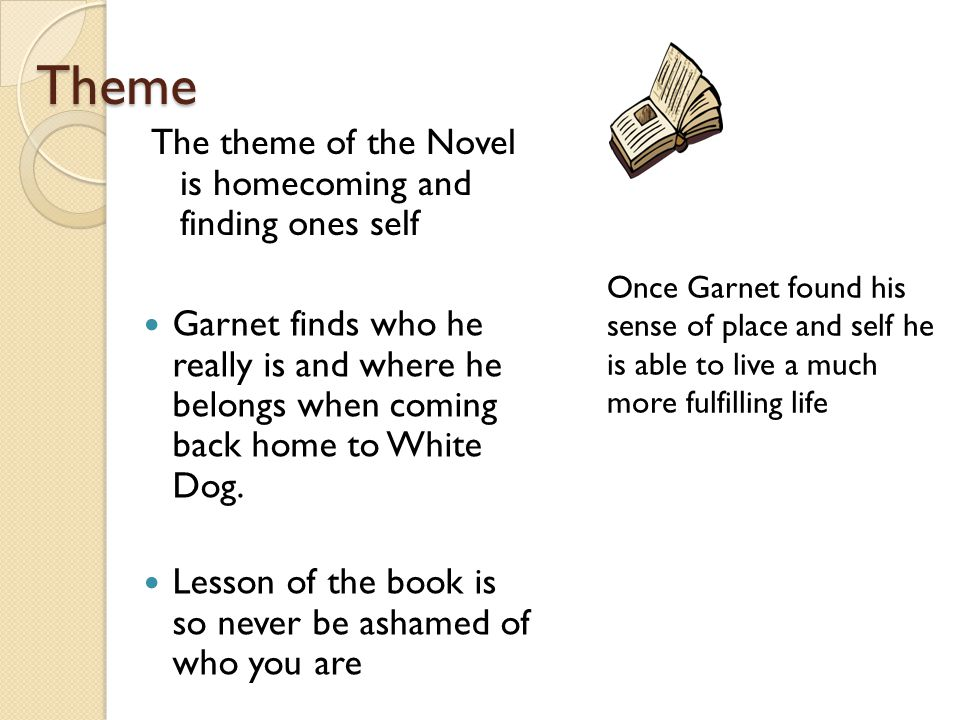 Theme The theme of the Novel is homecoming and finding ones self