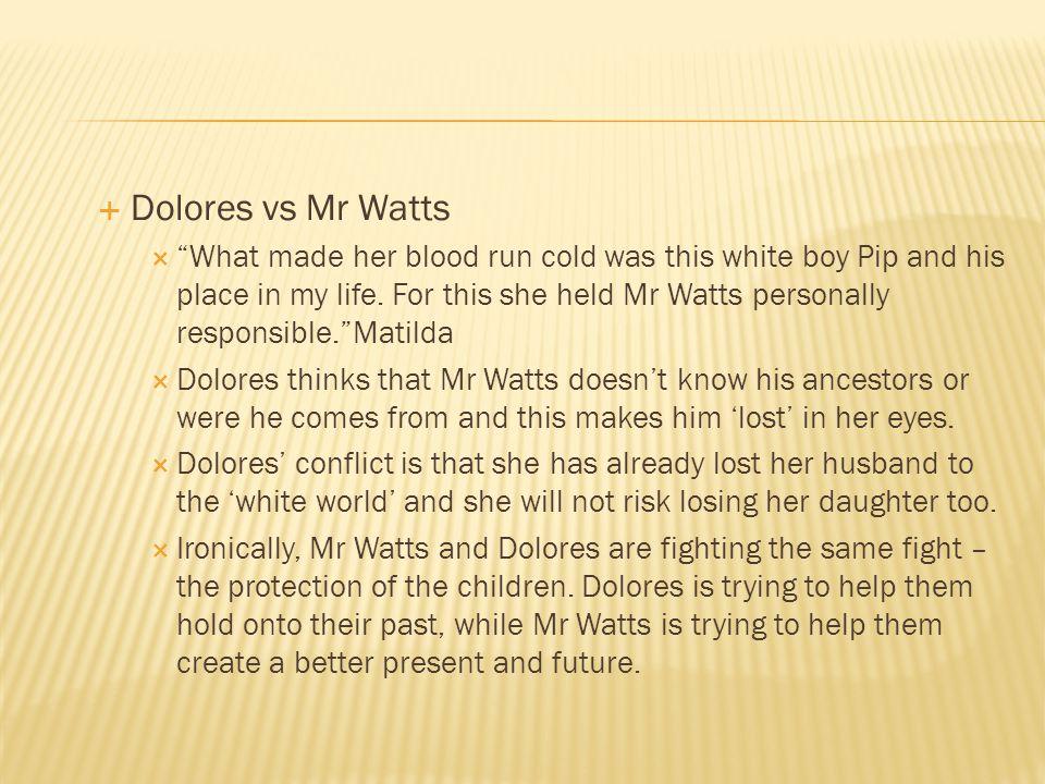Dolores vs Mr Watts