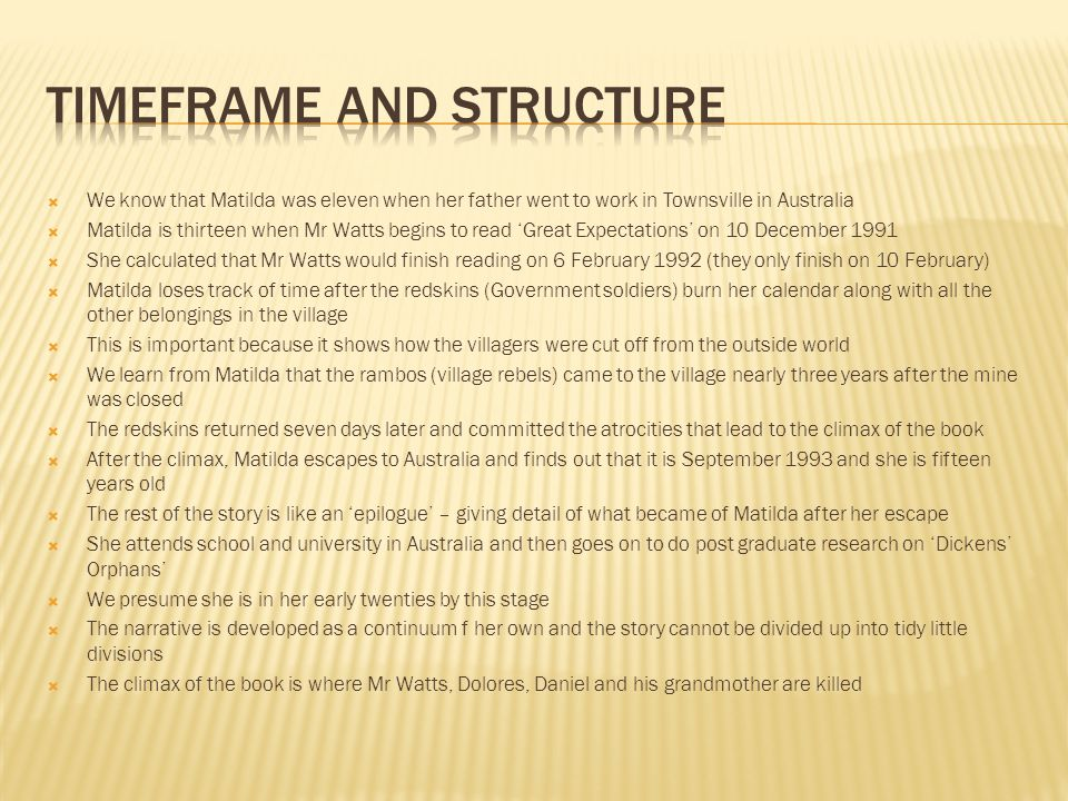 Timeframe and structure