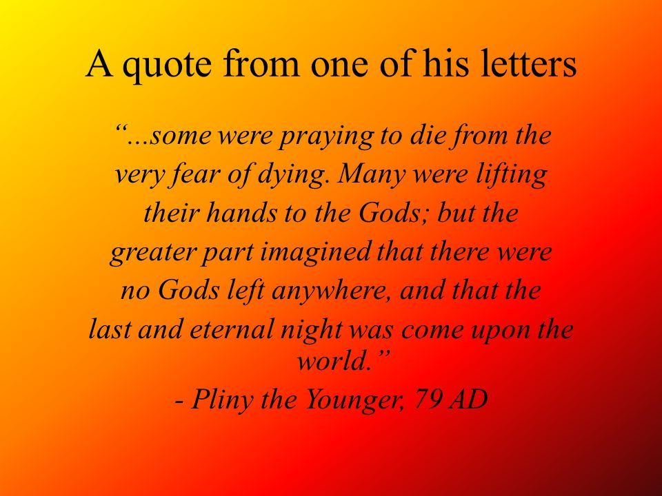 A quote from one of his letters