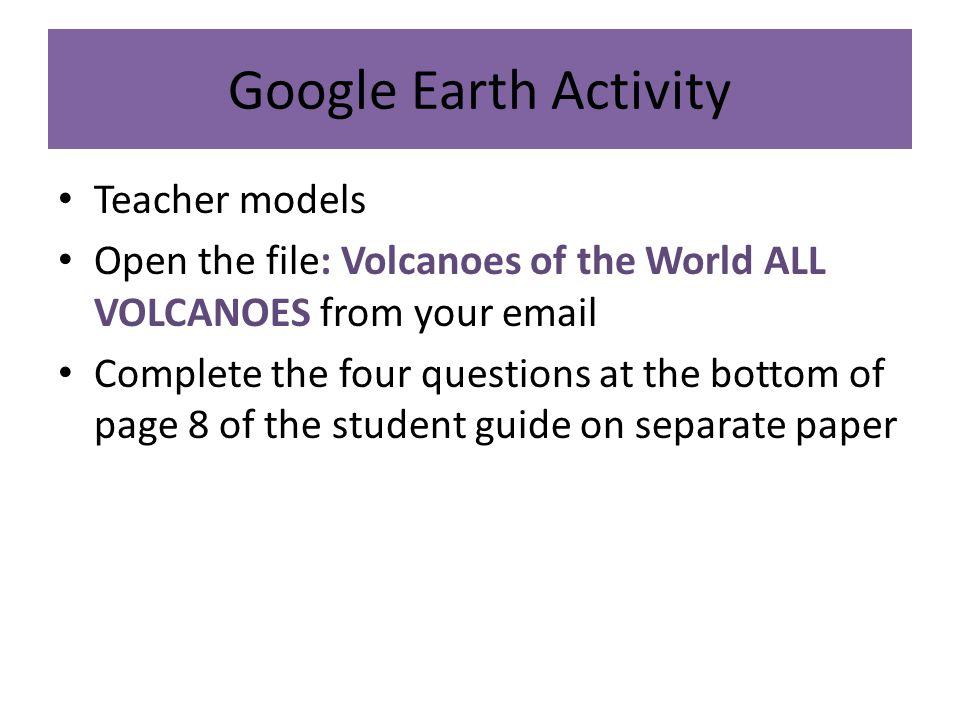 Google Earth Activity Teacher models