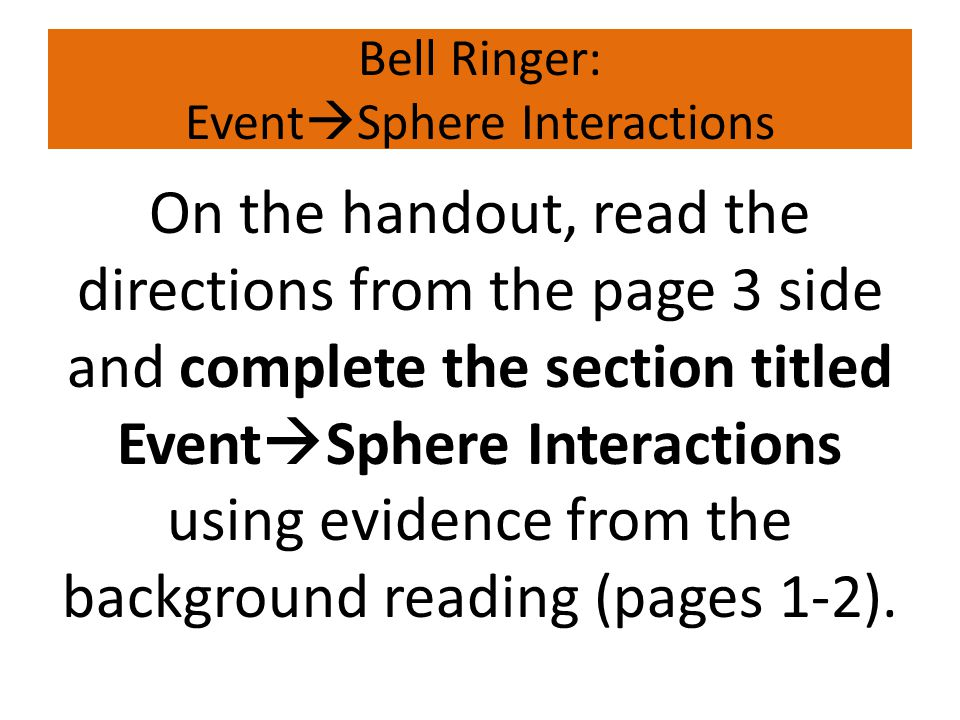 Bell Ringer: EventSphere Interactions