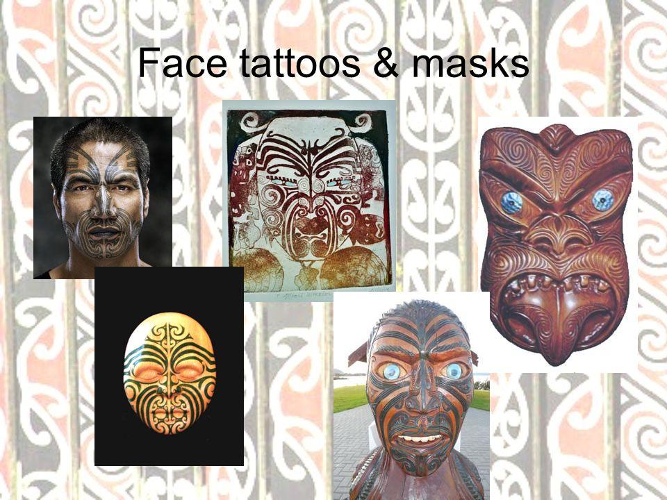 Face tattoos & masks