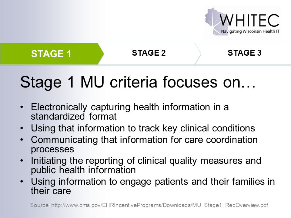 Stage 1 MU criteria focuses on…