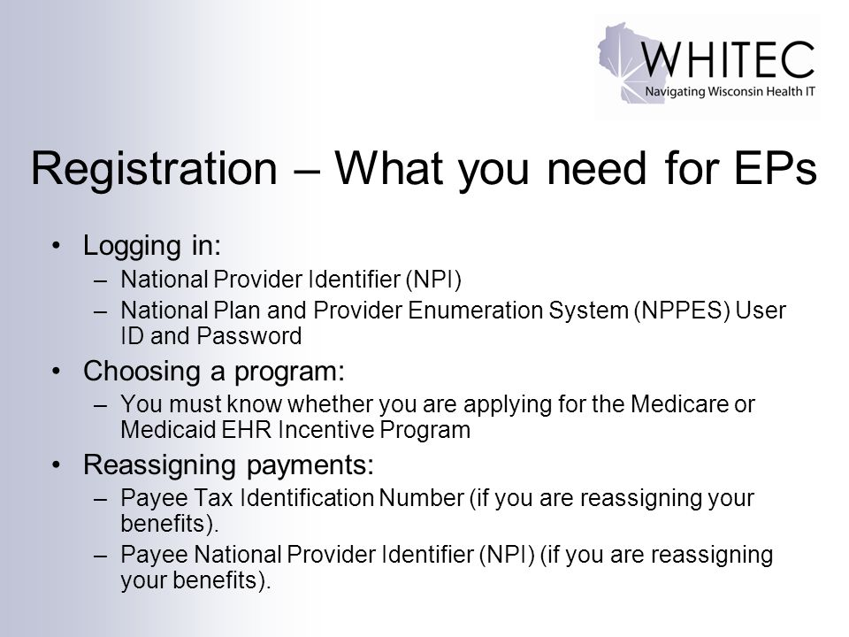 Registration – What you need for EPs