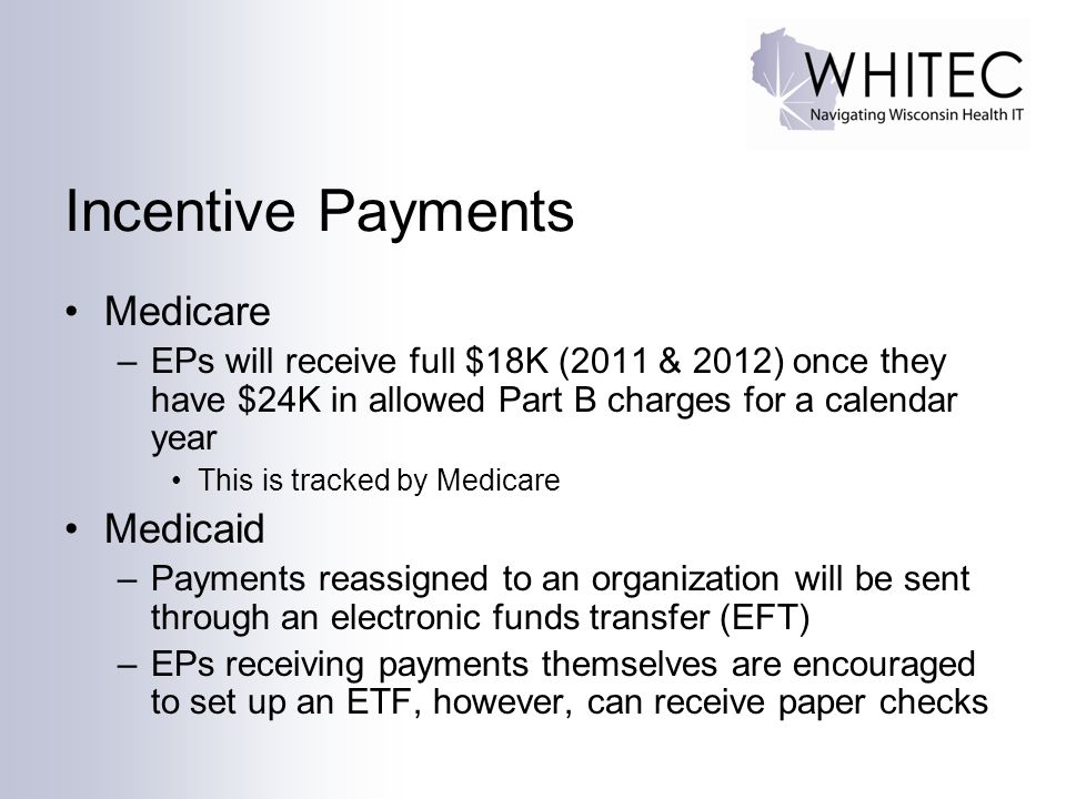 Incentive Payments Medicare Medicaid