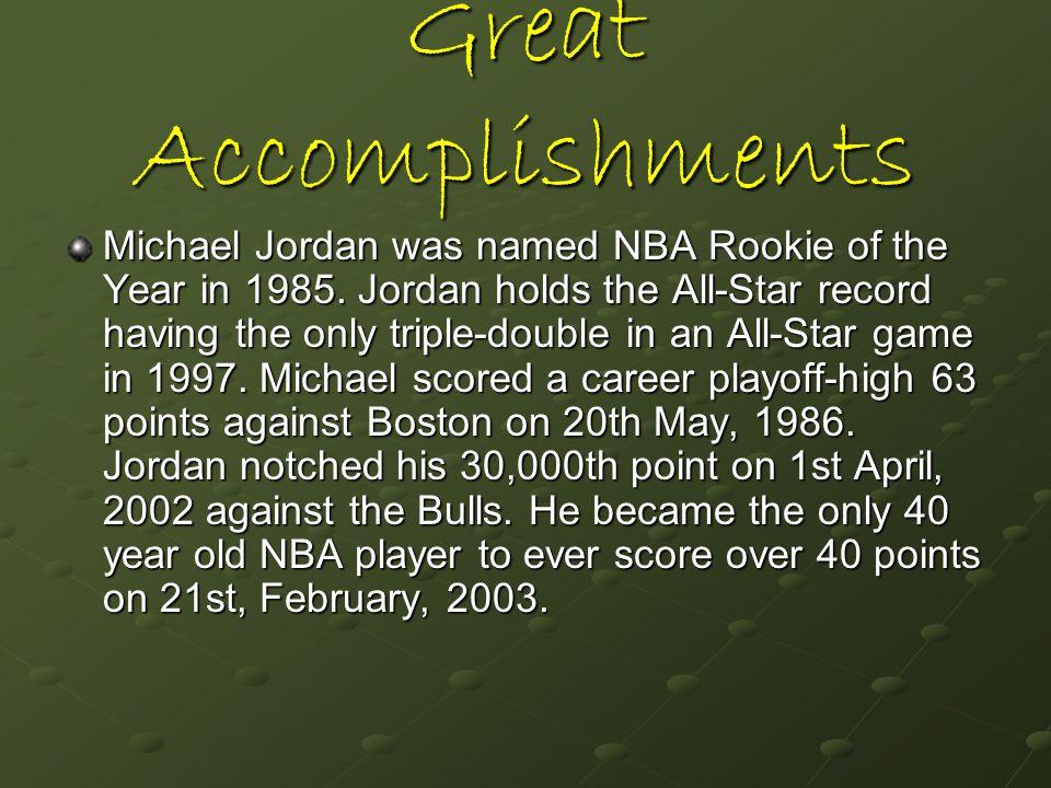 Great Accomplishments