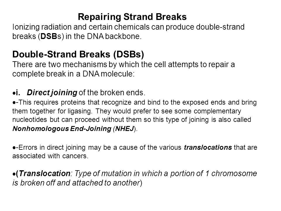 Repairing Strand Breaks