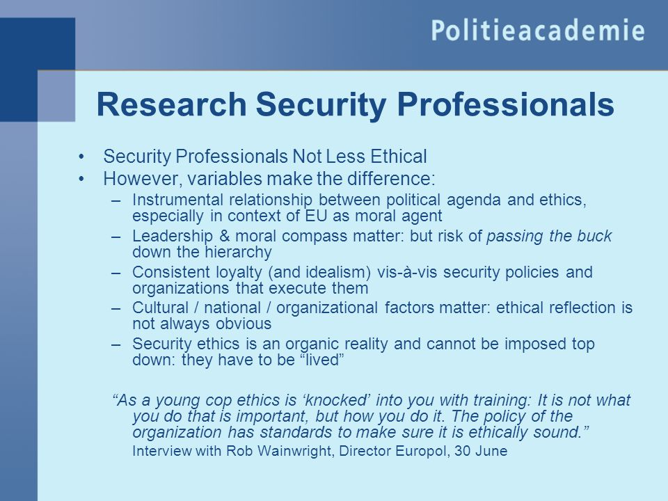 Research Security Professionals