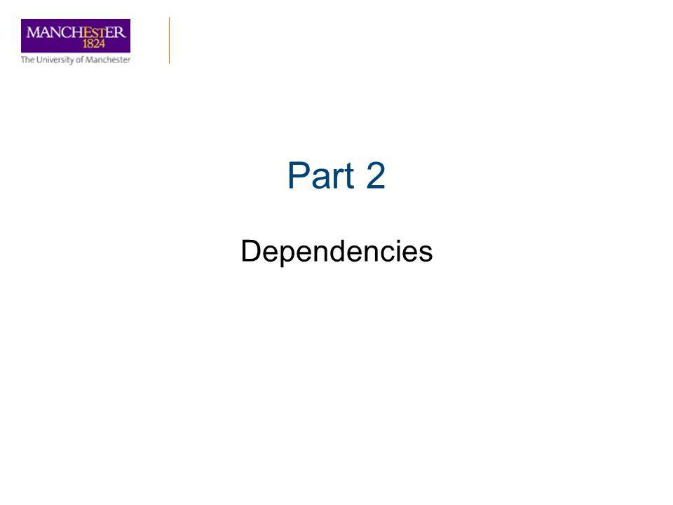 Part 2 Dependencies