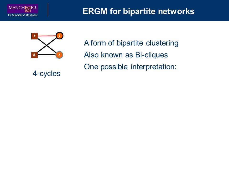 ERGM for bipartite networks