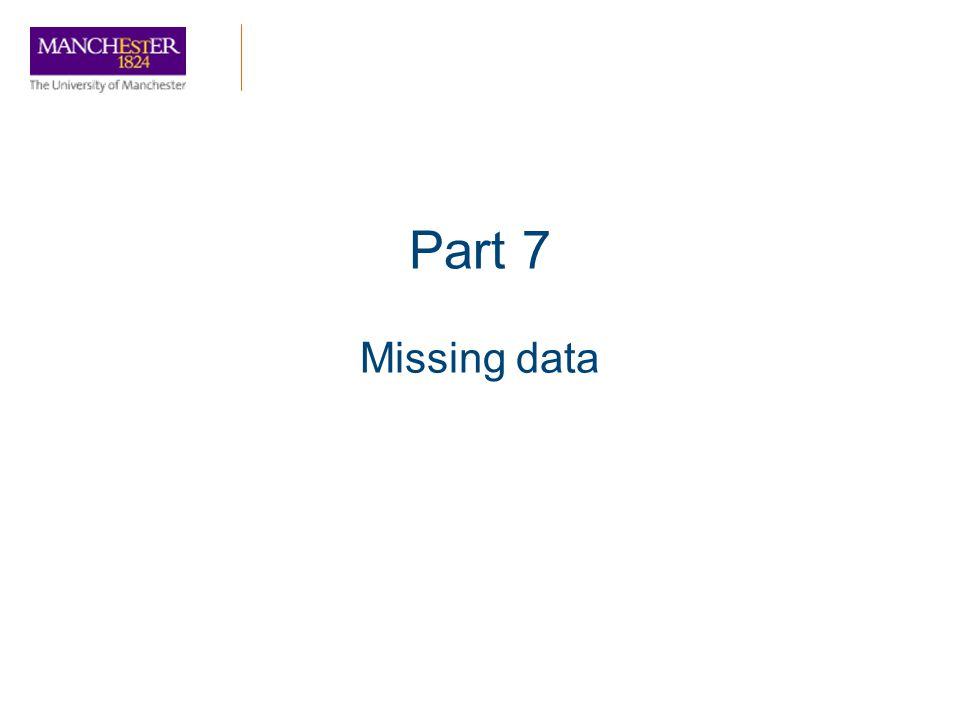 Part 7 Missing data
