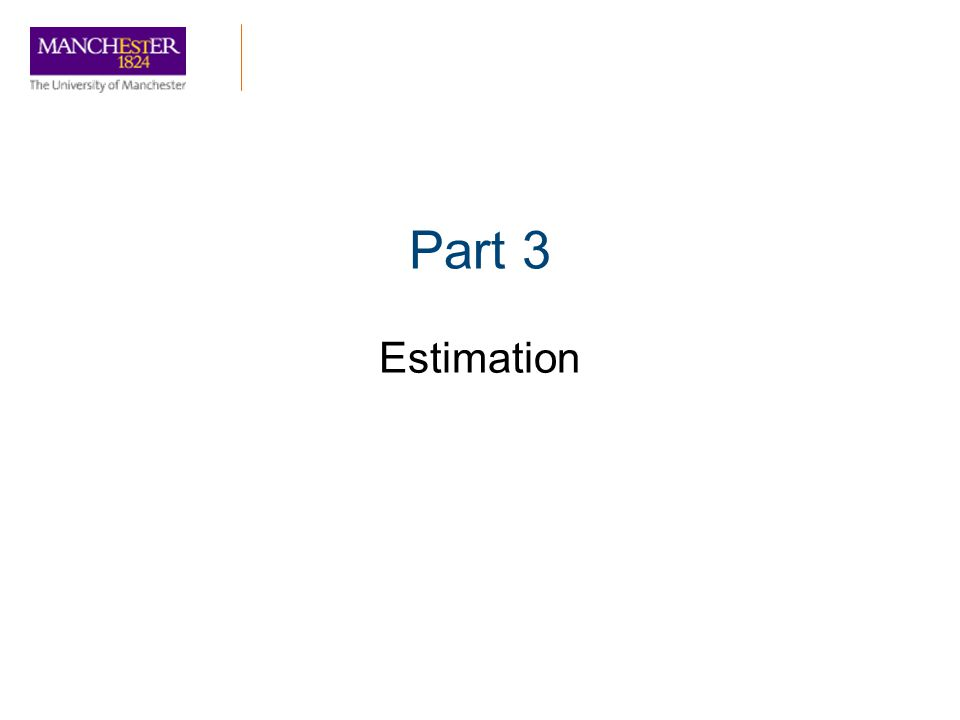 Part 3 Estimation
