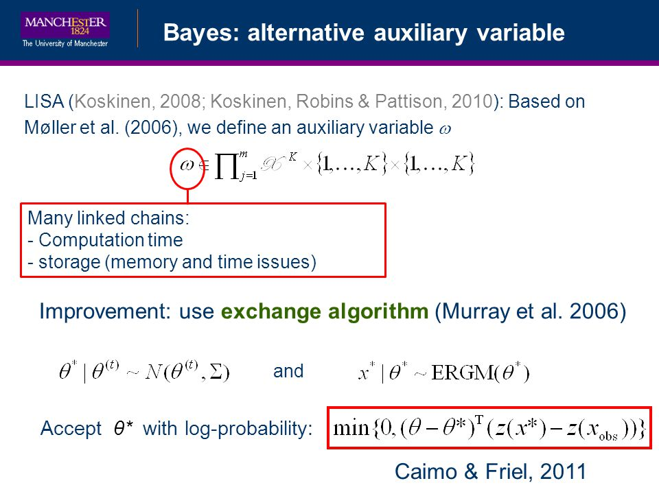 Bayes: alternative auxiliary variable