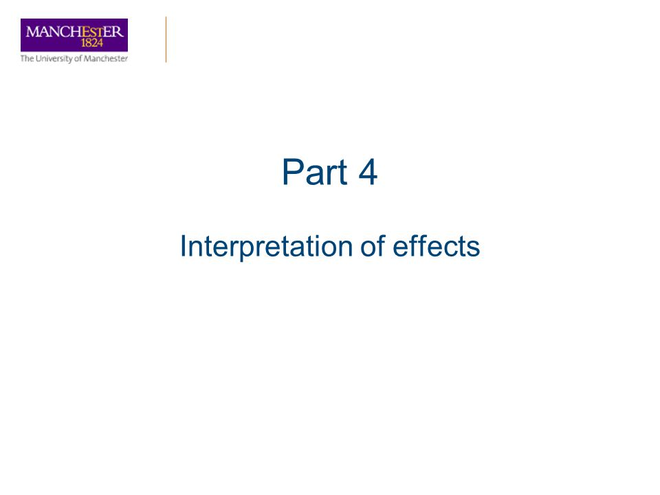 Interpretation of effects