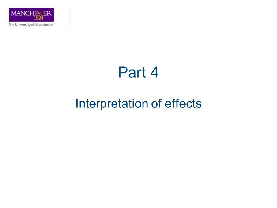 Interpretation of effects