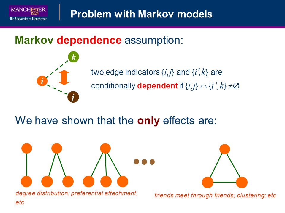 Markov dependence assumption: