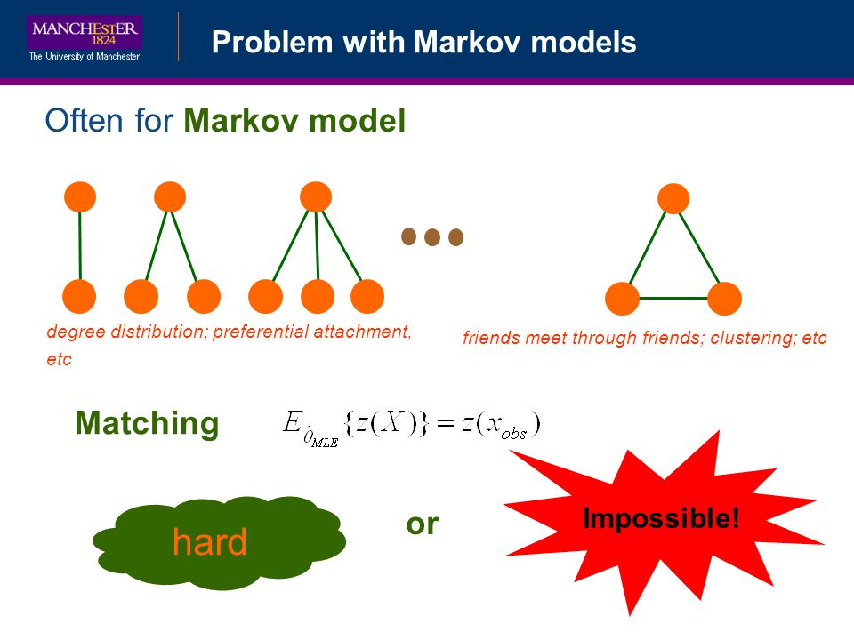 hard Often for Markov model Matching or Problem with Markov models