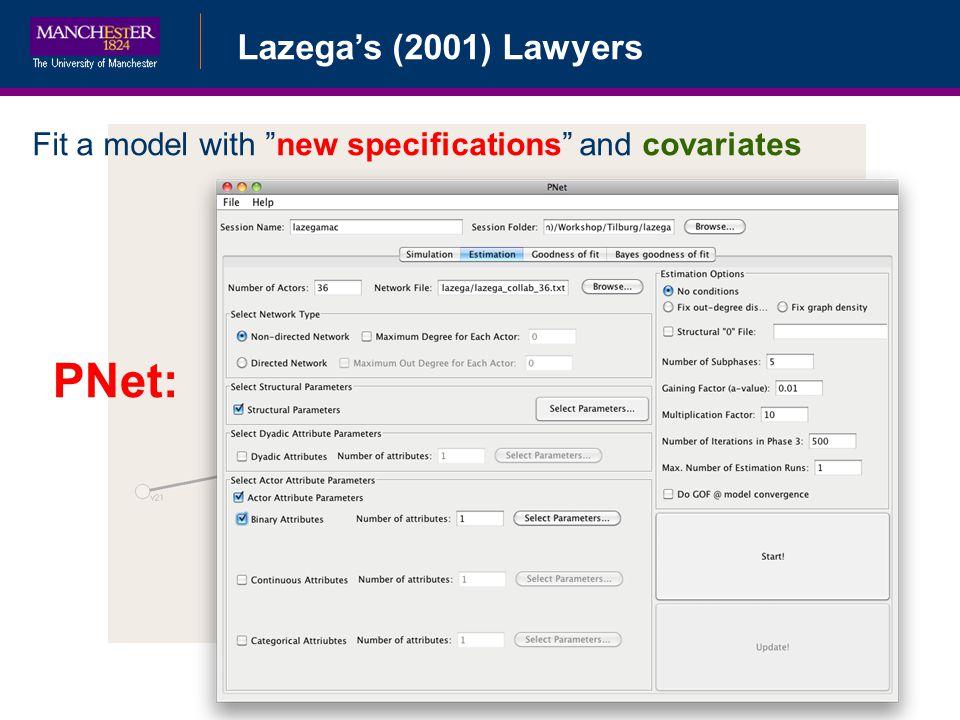 PNet: Lazega's (2001) Lawyers Bayesian Data Augmentation