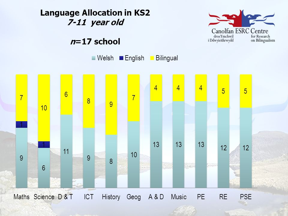 Language Allocation in KS2 7-11 year old n=17 school