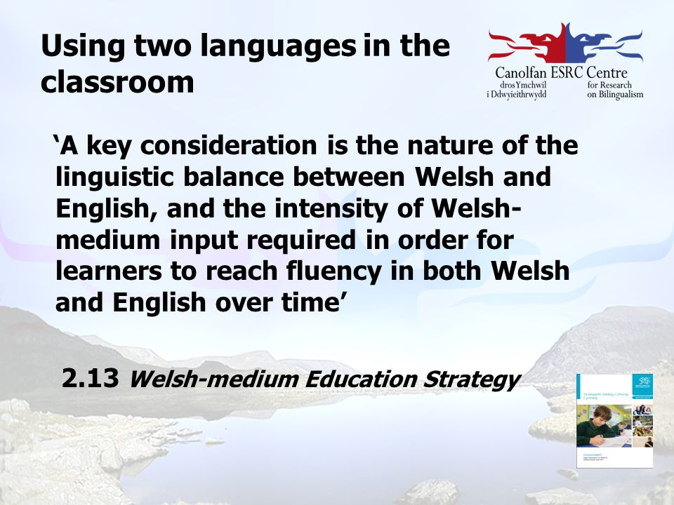 Using two languages in the classroom