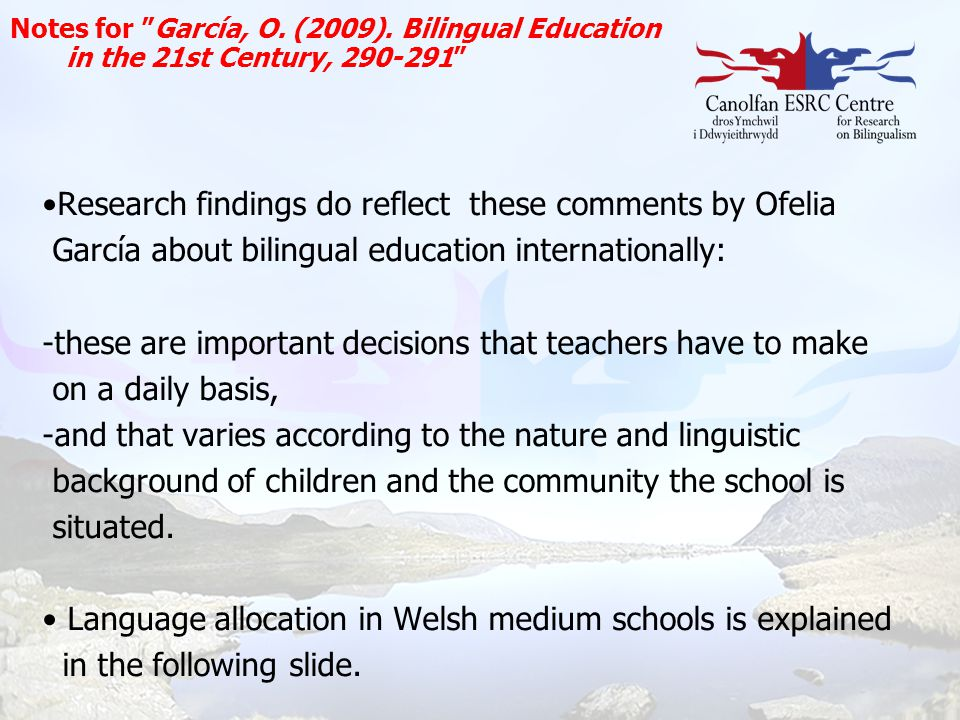 Research findings do reflect these comments by Ofelia