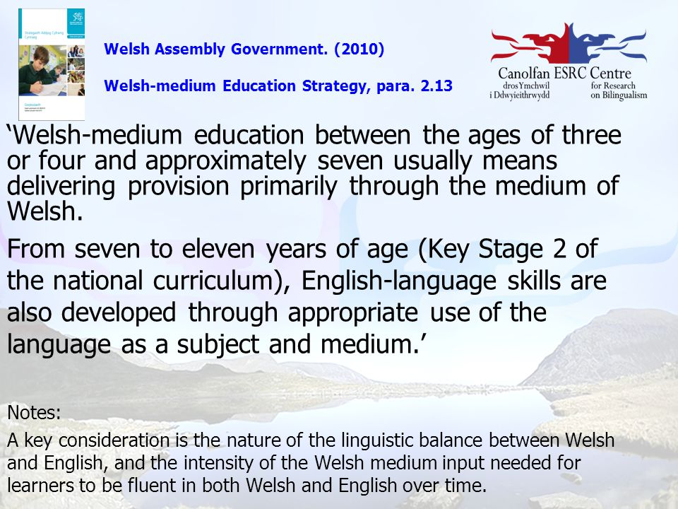 Welsh Assembly Government. (2010)