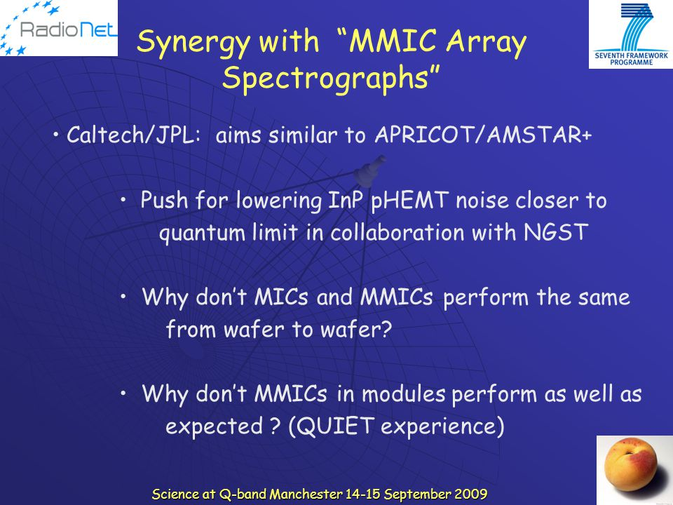 Synergy with MMIC Array Spectrographs