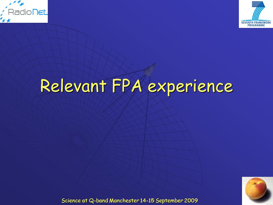 Relevant FPA experience