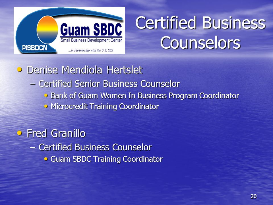 Certified Business Counselors