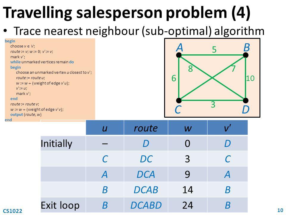 Travelling salesperson problem (4)