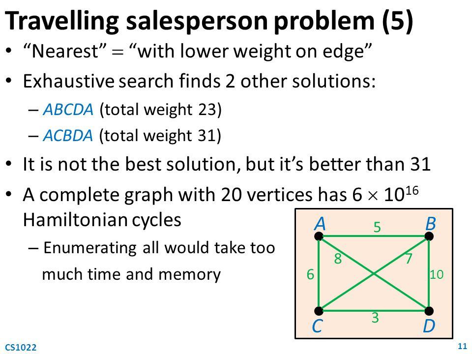 Travelling salesperson problem (5)
