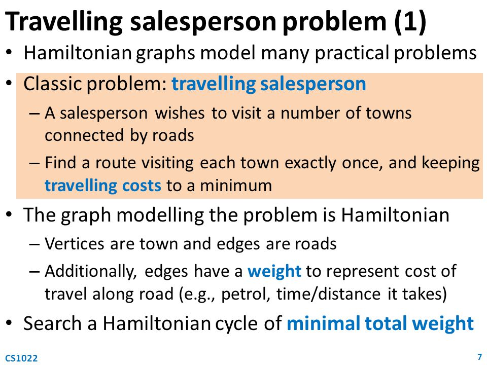 Travelling salesperson problem (1)