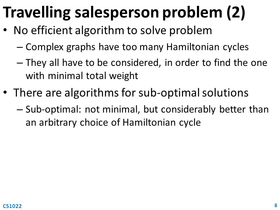 Travelling salesperson problem (2)