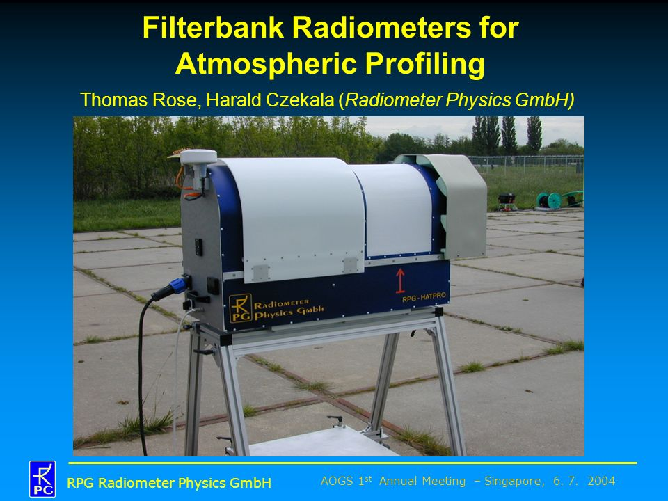 Filterbank Radiometers for Atmospheric Profiling