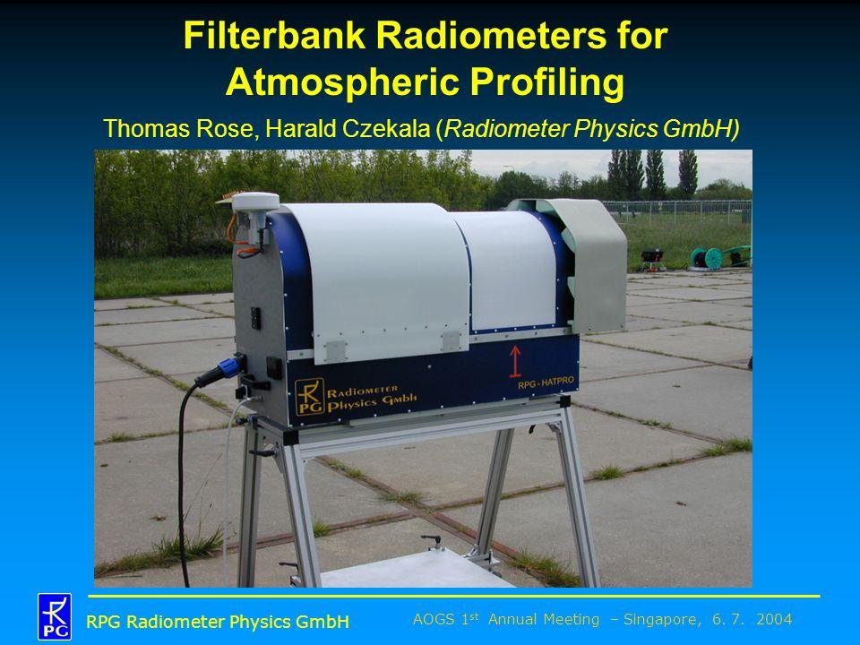 Filterbank Radiometers for Atmospheric Profiling