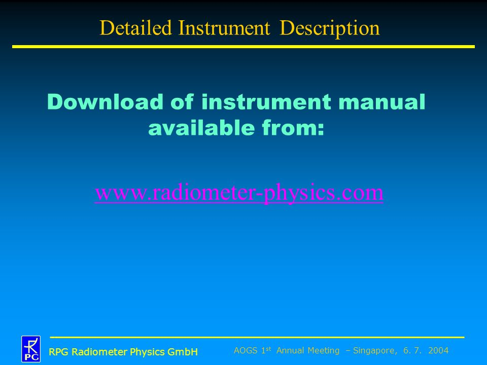 Detailed Instrument Description