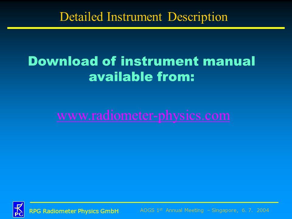 Detailed Instrument Description
